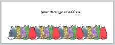 30 Personalized Return Address Labels Cats Buy 3 get 1 free (ct238)