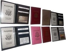 6 New USA Leather passport case 1 each. wallet credit ATM card case ID holder BN