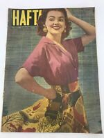 HAFTA #232 MAGAZINE - BARBARA RUSH COVER - 1950s 50s - ULTRA RARE - G