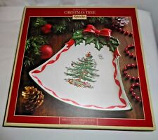 "Spode Christmas Tree - Ribbons Bell Coupe Plate - 10.5"" NIB"