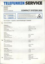 Telefunken Service Anleitung Manual Radio Compact System 3000 B484