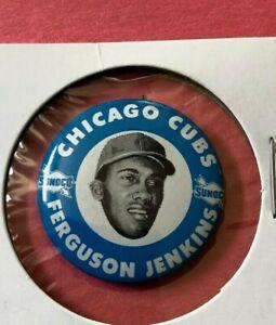 1969  FERGUSON JENKINS  Sunoco Baseball Pin Back Button  Cubs
