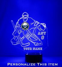 Buffalo Sabres Goalie Light - Personalized FREE - NHL Hockey LED Sports Fan Lamp