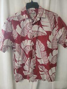 Hilo Hattie Hawaiian Aloha Shirt Made in Hawaii  FREE SHIPPING SZ M MINT
