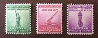 US Stamps Scott 899-901 Complete Set Of 3 Singles Nat'l Defense Issue MNH O/G