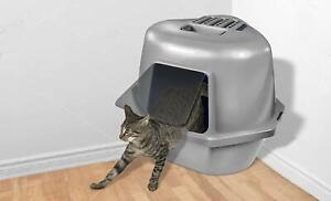 Extra Large Cat Litter Box Enclosed Kitten Pan Hooded Covered Corner Pet House