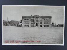 Farmersville Texas TX East Ward School Vintage Real Photo Postcard RPPC 1940s