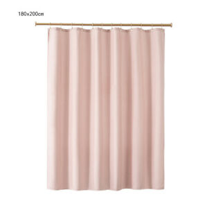 Fabric Shower Curtain Set with Hooks Polyester Washable Mildew Resistant  SUP