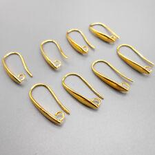10PCS New Making Jewelry Earring Finding Gold Earring Pinch Hook Ear Wire E13