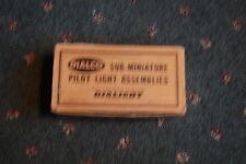 Full box of 32 Sub-Miniature Pilot Light Assemblies by Dialight 1956 NOS