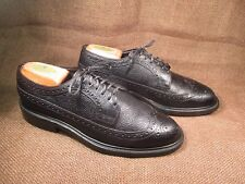 Made in Usa Copeg by Scholl Black Scotch Grain Calf Wingtip Size Us 6 D