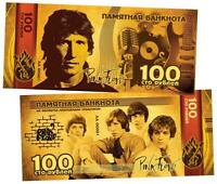 Russia 100 rubles Pink Floyd.  English rock. commemorative banknote