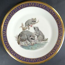 Lenox Woodland Wildlife Plate Racoons 1973 Boehm Studios Limited Edition