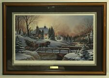 Terry Redlin ''Heading Home'' Wildlife Art Christmas 1990 Framed And Signed