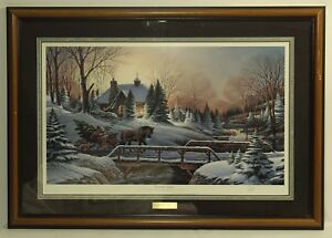 Terry Redlin ''Heading Home'' Wildlife Art Christmas 1990 Signed