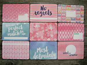 "'BETTER TOGETHER' PROJECT LIFE CARDS BY BECKY HIGGINS -6"" X 4"""