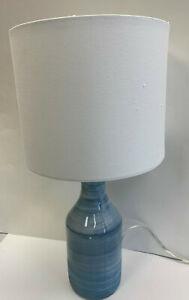 Pottery Barn Melrose Table Lamp Blue Swirl & Shade NEW