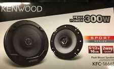New Kenwood KFC-1666S 6.5 inch 2-Way Car Speakers 12D