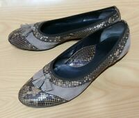 Sesto Meucci Made in Italy Snake Print Women's Flats Ballet Shoes 10 M