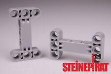 LEGO® 2x 14720 ***NEU*** Technic Liftarm / Verbinder H-Form / hellgrau / 6055519
