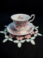 Royal Albert Antique tea cup & saucer bone china Prairie crocus *Montrose style