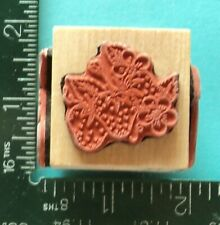 Strawberries Cherries Grapes Apple Fruit Cube Rubber Stamp Embossing Arts