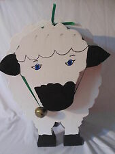 Large Wooden Primitive Sheep Decoration... Very Cute