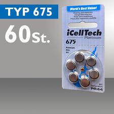60x Pilas de Botón Audífono iCellTech Tipo 675 PR44 ZL1
