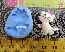 Moule Silicone chat marie pour fimo, porcelaine froide, pâte à sucre, amande