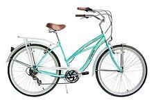 """Ecosmo 26"""" Wheel Ladies Women Beach Cruiser/Lowridger Bicycle Bike 17""""-26B15G"""