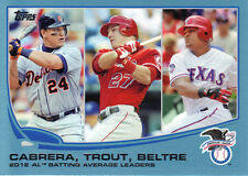 "2013 TOPPS  SER. #1  ""BLUE BORDER""  #294  AL BATTING AVG. LEADERS"