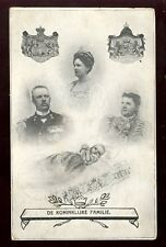Royalty  Holland Royal Family vintage PPC