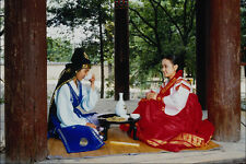 772034 Girl And Boy In Korean Dress A4 Photo Print