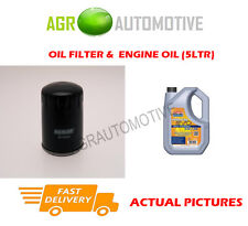 PETROL OIL FILTER + LL 5W30 ENGINE OIL FOR PEUGEOT 307 CC 2.0 177 BHP 2003-09