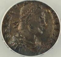 AD 383-388 Roman Siliqua Coin Magnus Maximus Trier Mint ANACS AU-50 AKR