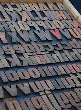 "letterpress wood printing blocks 180 pcs 2.13"" tall alphabet type woodtype rare"