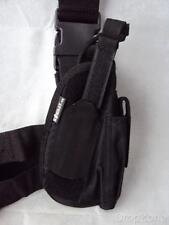 Right Hand Black Tactical Combat Leg Pistol Holster with Ammo Pouch, Airsoft