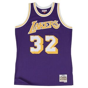 Magic Johnson Los Angeles Lakers Road Purple Swingman Jersey Mitchell & Ness