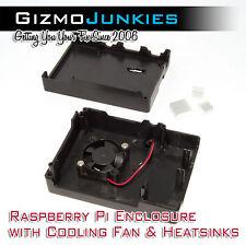 Raspberry Pi 3 Case with Cooling Fan & Heatsinks - Overclock RetroPie (B+/2B)