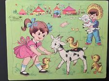 "VINTAGE Sta-in-Place Puzzle ""Fair"" #13029  FREE SHIPPING (US)"