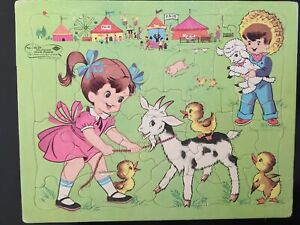"""VINTAGE Sta-in-Place Puzzle """"Fair"""" #13029  FREE SHIPPING (US)"""