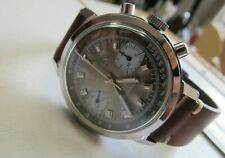 Vintage chronograph brown dial rally valjoux 7733 very good condition all steel