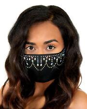 Women Rhinestone Mask Belly Dancer Designer Fashion One Size Leg Avenue M1002