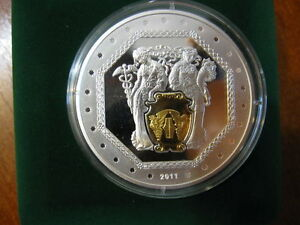 20 Years of NATIONAL BANK of UKRAINE  Silver 2 Oz Medal 2011 Rare
