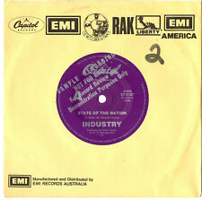 """INDUSTRY - STATE OF THE NATION - RARE PROMO 7"""" 45 VINYL RECORD"""