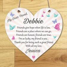 Personalised Best Friend Sign Friendship Plaque  Thank You Gift Birthday Present
