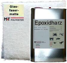 HOBBYPLAST: 1,2 KG EPOXIDHARZ, 2m² Glasfasermatte 225g GFK Stabile Polyesterharz