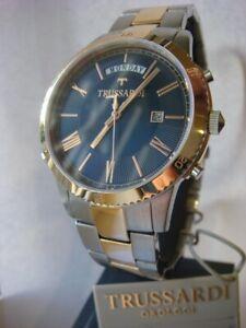 New TRUSSARDI T Style Men's Watch Rose Gold Steel R2453117002