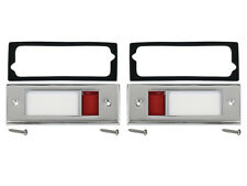 New 65-66 Galaxie 500XL Tbird Lamp Bezels-Lenses Door Courtesy 64-65 Comet Ford