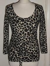 Wallis Lambswool Angora Animal Print Warm Soft Designer Jumper Size UK 10 EU 38